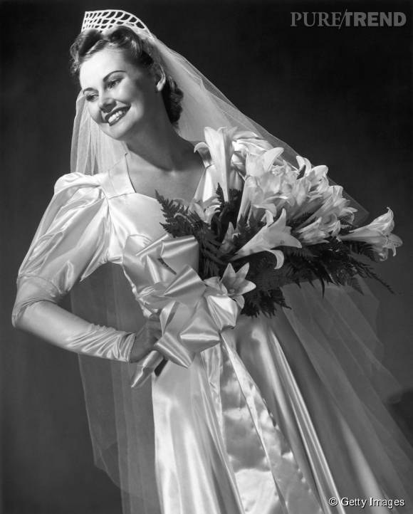 Robe de mariée de 1950.