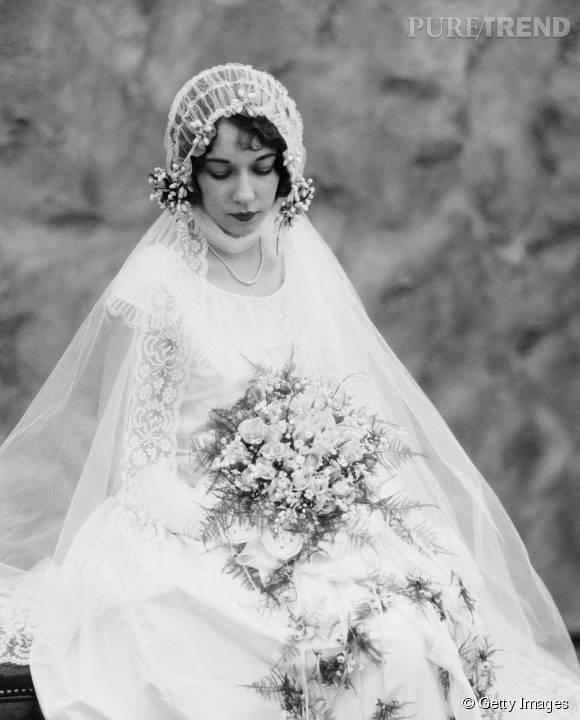 Robe de mariée de 1920.