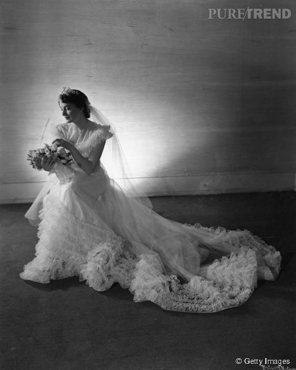 Robe de mariée de 1945.