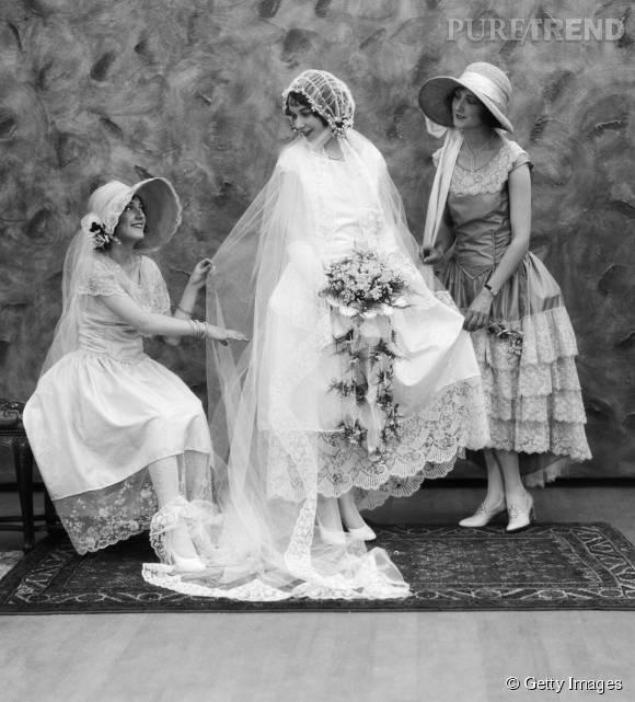 Robe de mariée de 1910.