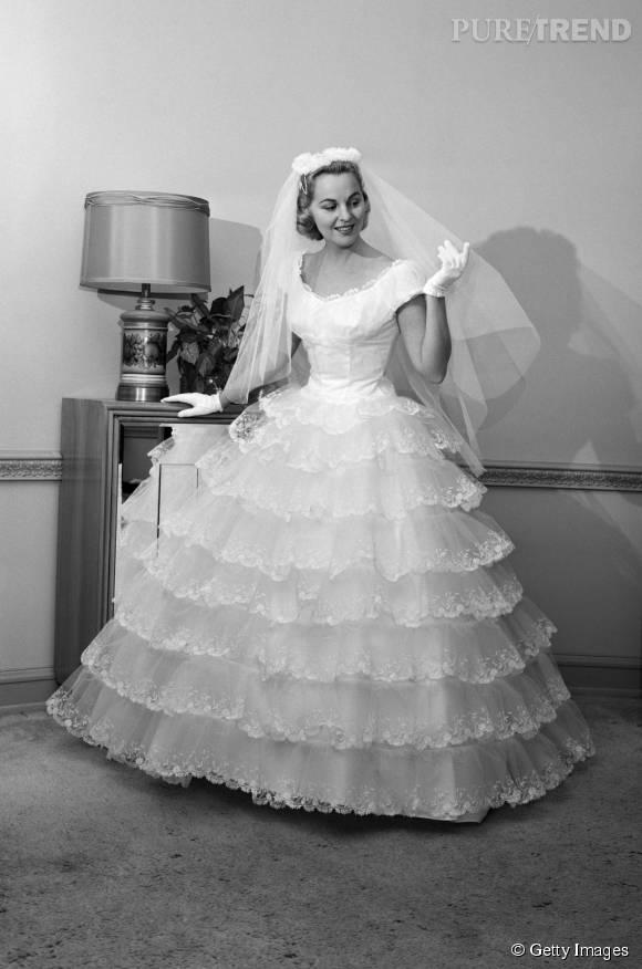 Robe de mariée de 1960.