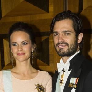 La princesse Sofia et le prince Carl Philip lors d'une réception organisée par la Royal Swedish Academy of Engineering Sciences à Stockholm le 23 octobre 2015.