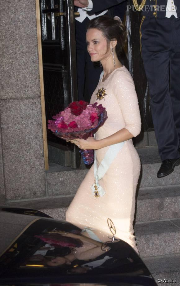 La princesse Sofia radieuse à Stockholm le 23 octobre 2015.