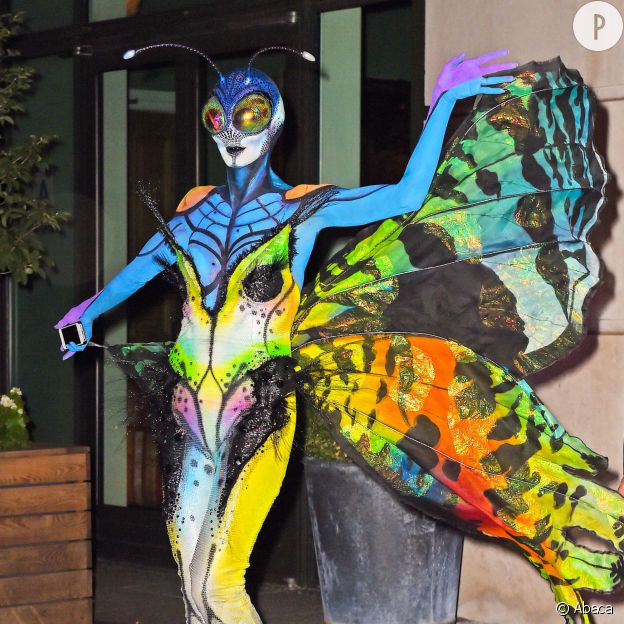 Heidi Klum, flippante en papillon.