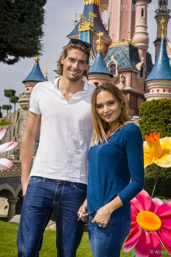 Valérie Bègue et son mari, le nageur Camille Lacourt. Ensemble, ils ont une fille prénommée Jazz.
