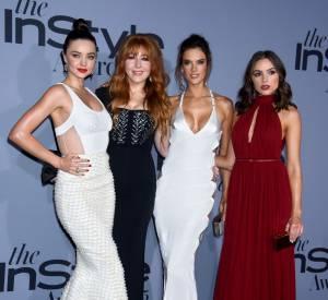 Miranda Kerr, Charlotte Tilbury (make up artist de l'année), Alessandra Ambrosio et Olivia Culpo aux InStyle Awards le 26 octobre 2015 à Los Angeles.