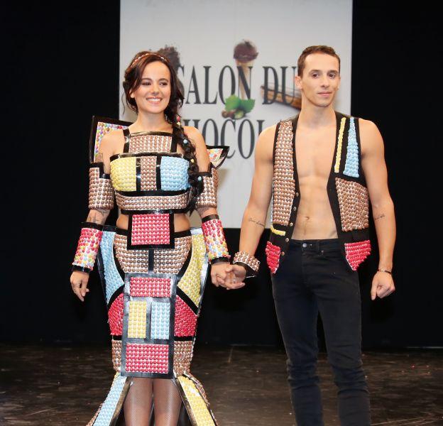 Alizée et Grégoire, les deux stars du défilé du salon du chocolat 2015.