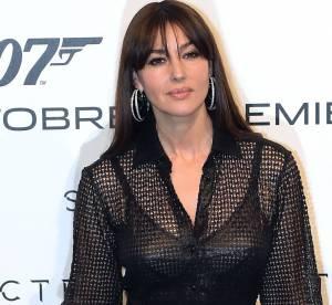 """Monica Bellucci : transparence et glamour en deux tenues pour """"Spectre"""""""