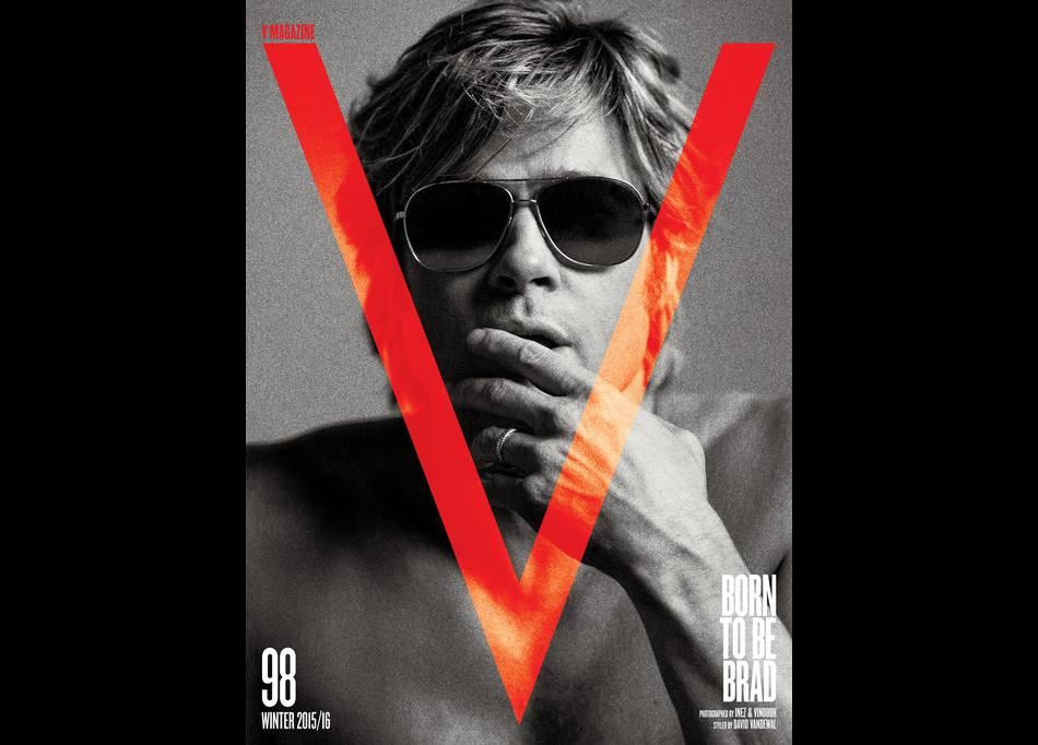 Brad Pitt affiche des airs de Robert Redford en cover de  V Magazine.