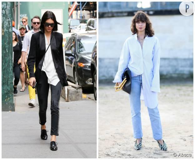 Quatre fa ons de porter la chemise blanche l 39 ordonnance mode de la semaine puretrend - Porte chemise dressing ...