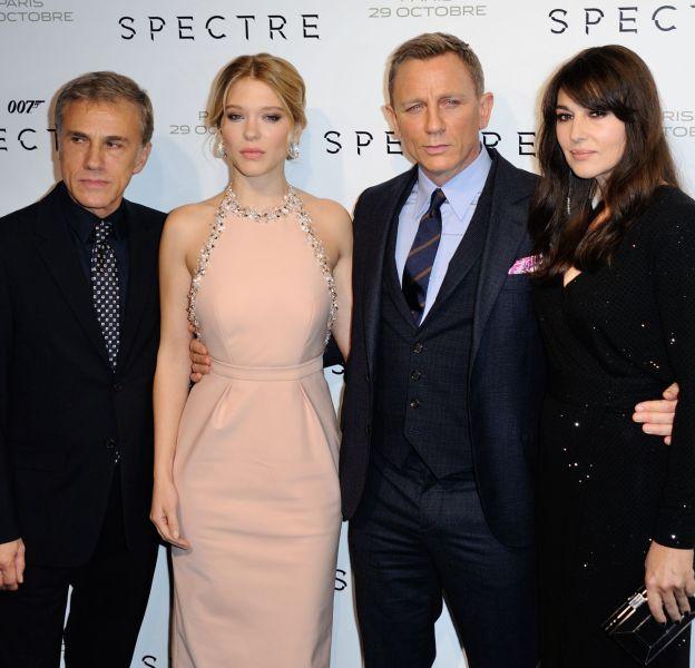 """Le casting prestigieux de """"Spectre"""" au Grand Rex à Paris."""