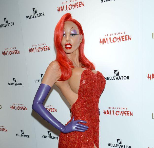 Heidi Klum se métamorphose en Jessica Rabbit pour Halloween