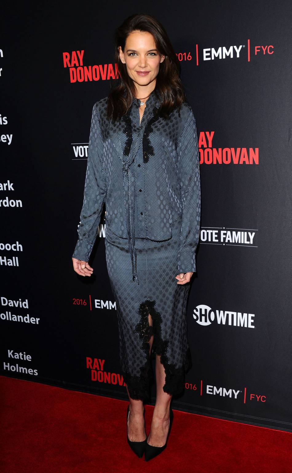 "Katie Holmes au showtime's ""Ray Donovan"" à Los Angeles ce lundi 25 avril 2016."