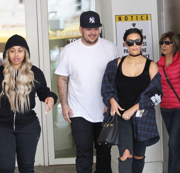 Kim Kardashian à Beverly Hills ce mardi 26 avril 2016 pour un déjeuner avec son frère Rob et sa fiancée, Blac.