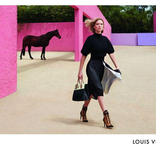 Ambiance ranch pour ce dernier shooting Louis Vuitton avec Léa Seydoux.