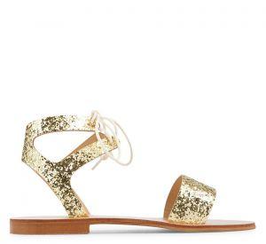 Sandales dorées, Minelli, 59€.