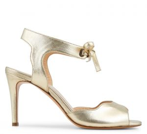 Sandales à talons dorées, Minelli, 139€.