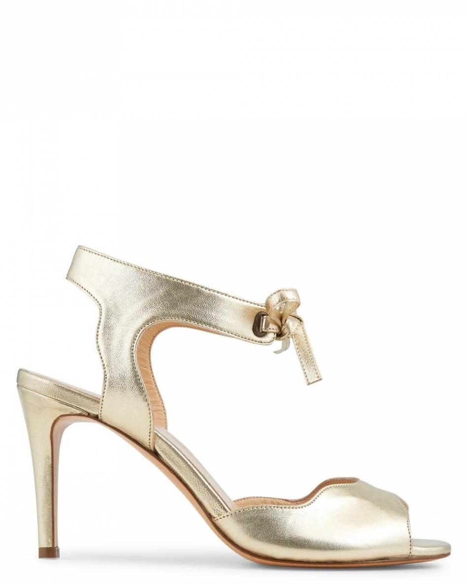 prix bien connu style à la mode Sandales à talons dorées, Minelli, 139€ - Puretrend