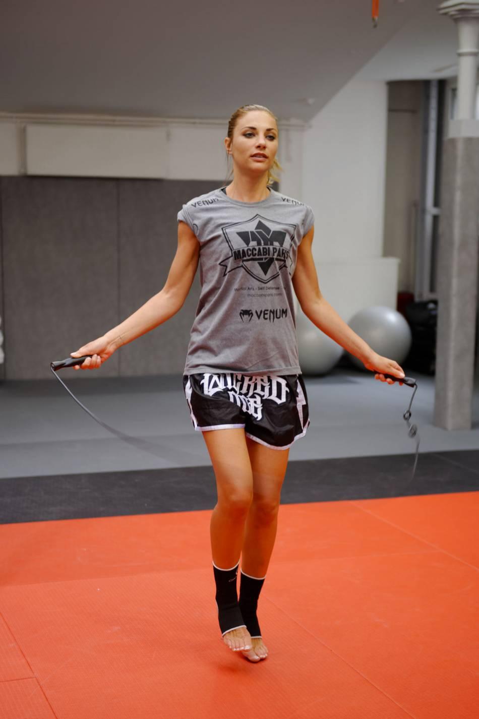 Ariane Brodier : à 37 ans, elle fréquente assidûment la salle de sport.