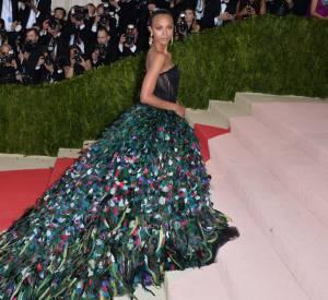 Cette robe Dolce & Gabbana portée par Zoe Saldana est spectaculaire.