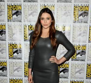 Ce look en cuir est très rock sur Elizabeth Olsen.