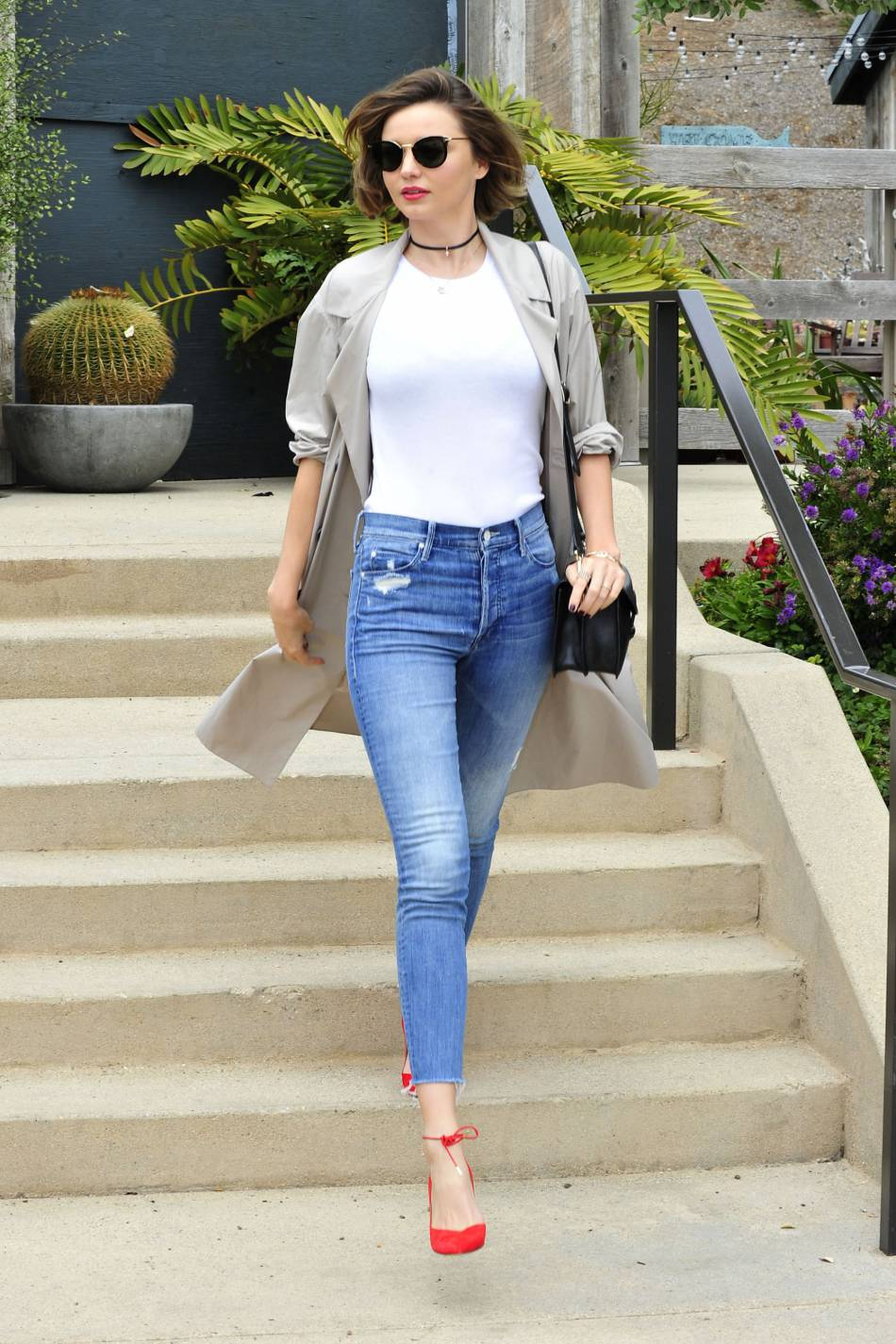 Miranda Kerr, les bons basics font le bon look.
