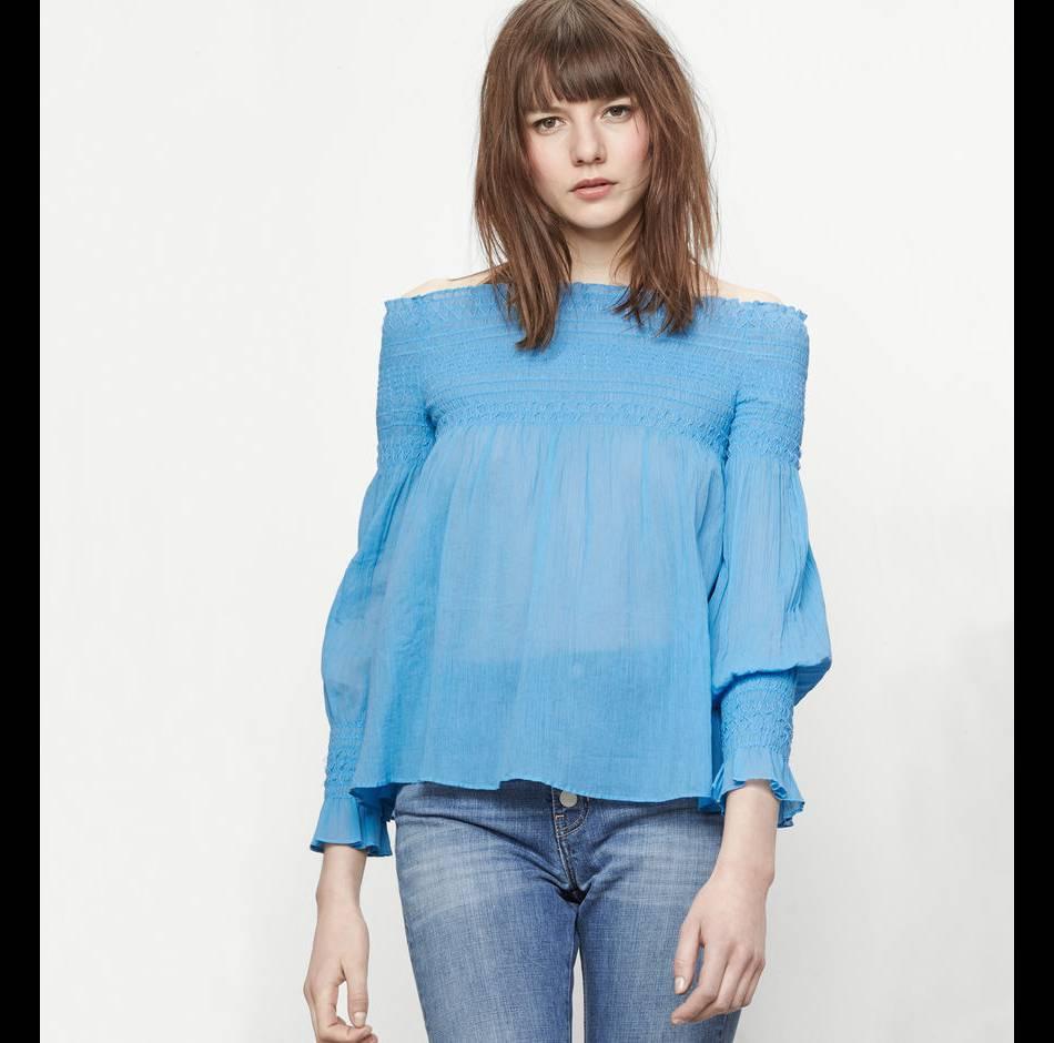 Top bleu, Maje, 150€.