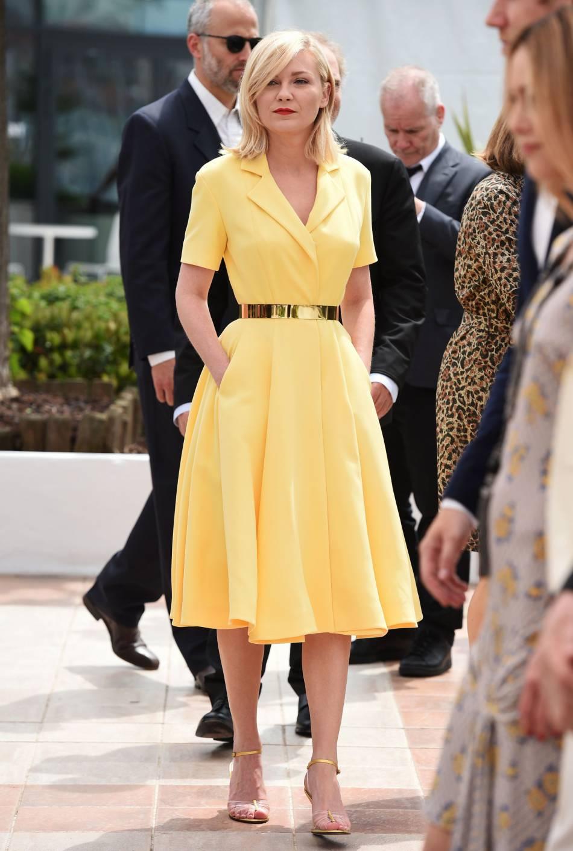 Sous le ciel gris de Cannes, l'actrice était un vrai soleil.