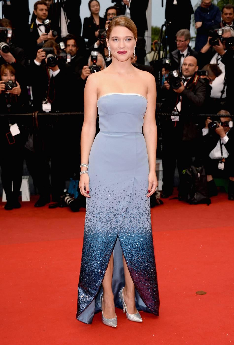 """Léa Seydoux lors de la première de """"Grand Central"""" lors de la 66ème édition du Festival de Cannes, en 2013."""