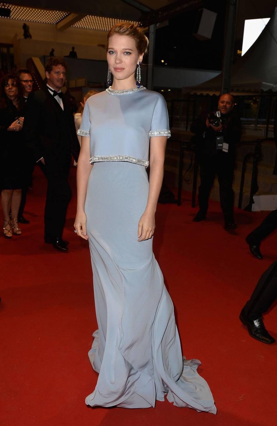 """Léa Seydoux lors de la première de """"The Lobster"""" au Festival de Cannes 2015."""
