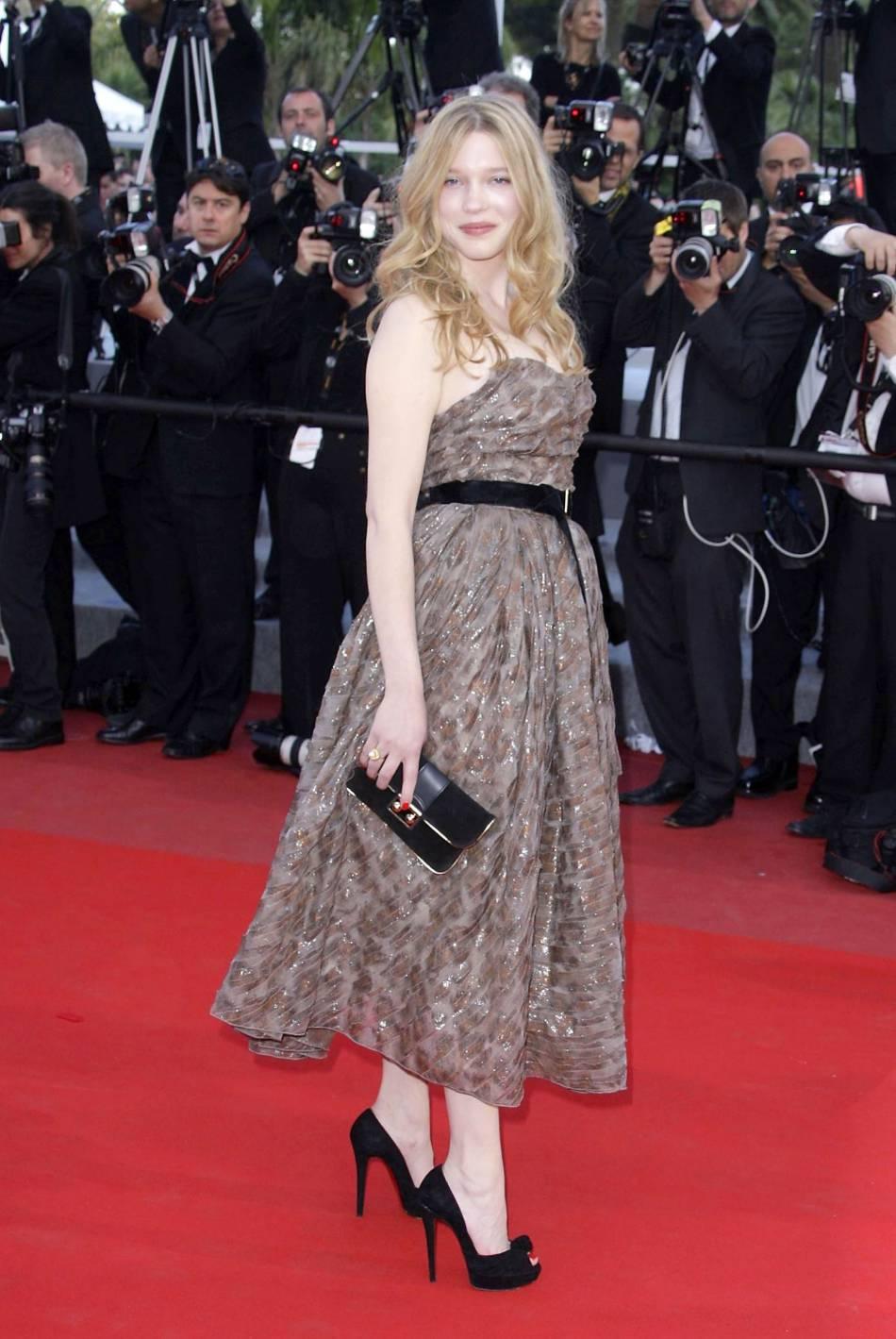 """Léa Seydoux à la 63ème édition du Festival de Cannes lors de la première de """" On Tour"""", en 2010."""