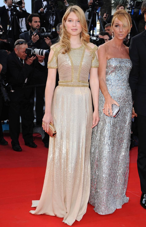 """Léa Seydoux pour la première """" Wall Street: Money Never Sleeps"""" lors du Festival de Cannes 2010."""
