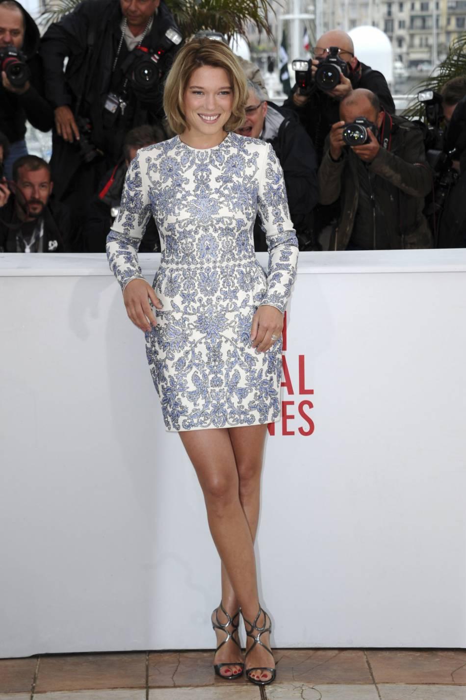 """Léa Seydoux lors du photocall de """"Grand Central"""" au Festival de Cannes 2013."""