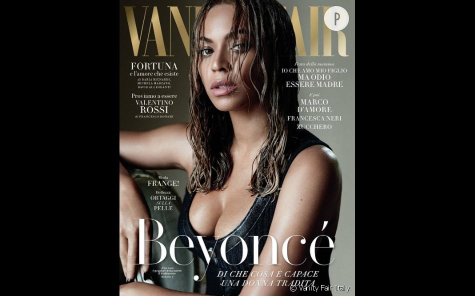 Beyoncé était tout aussi sulfureuse en couverture du  Vanity Fair Italy.