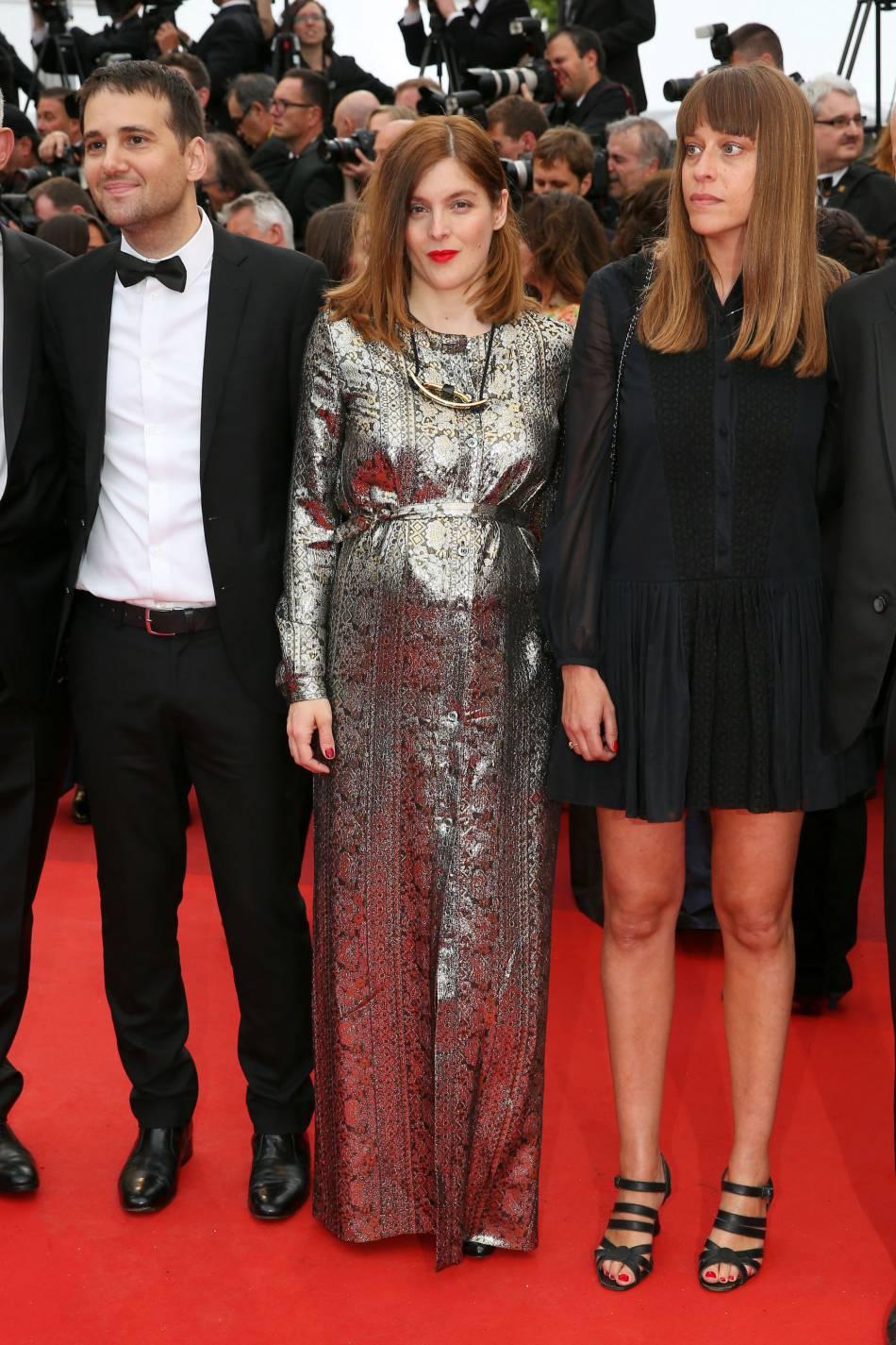 Valérie Donzelli est apparue rayonnante dans une robe lamée.