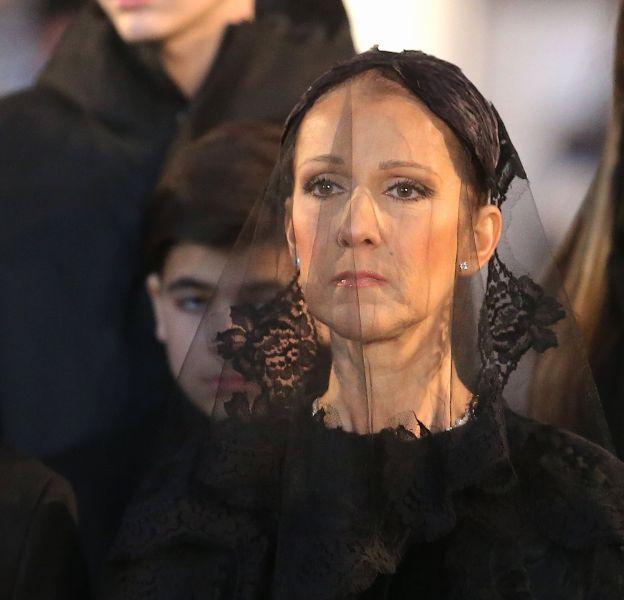 Céline Dion aux funérailles de son mari René Angelil.