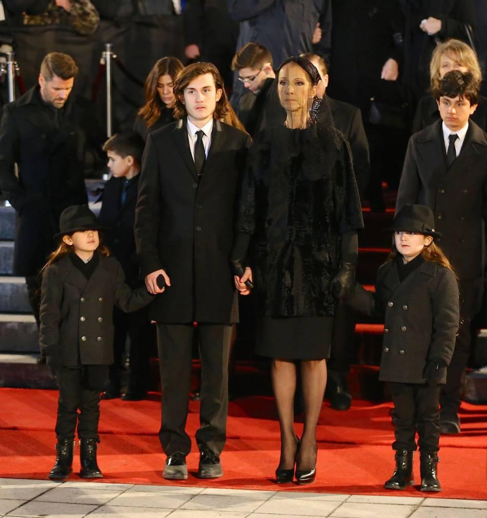 Céline Dion a pu compter sur le soutien de ses trois fils.