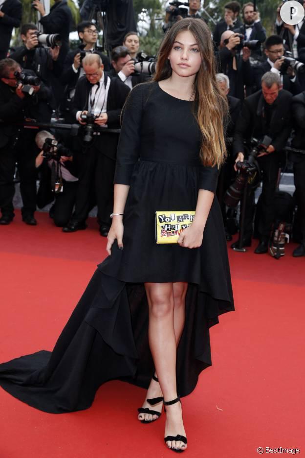 Thylane Blondeau, nouveau visage l'Oréal à seulement 15 ans, a charmé le tapis rouge de Cannes.