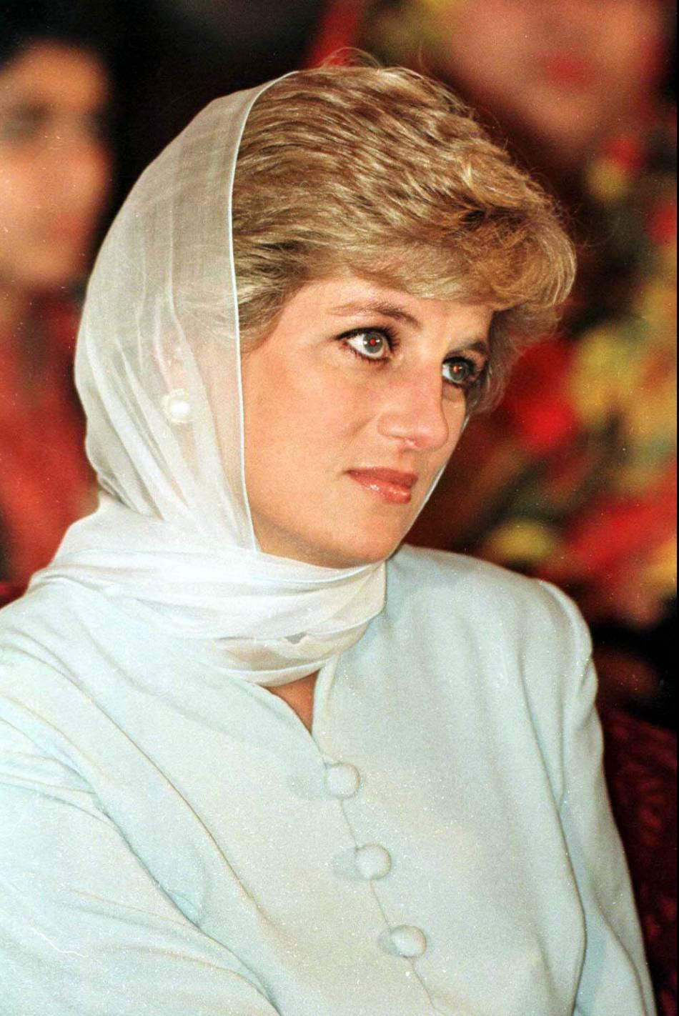 Diana au Pakistan, en 1996.