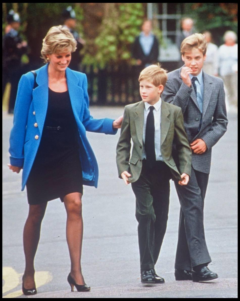 Lady Diana avec ses fils William et Harry, en 1995.