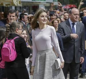 Letizia d'Espagne : poitrine moulée et jupe volante, une reine sexy en diable