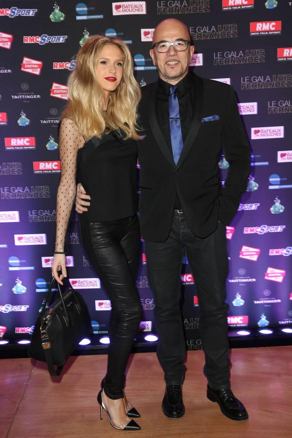 Le chanteur Pascal Obispo et sa femme, Julie
