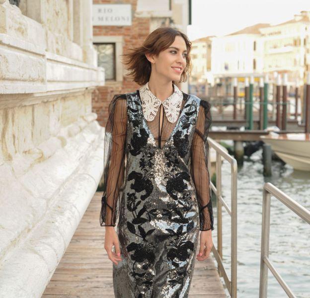 Alexa Chung au dîner MyTheresa x Erdem à Venise le 26 mai 2016.