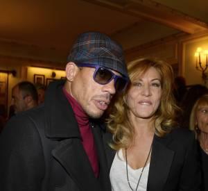 JoeyStarr et son amie Mathilde Seigner, en septembre 2013. La déclaration d'amitié de l'actrice pour le rappeur lors des César 2012 a fait couler beaucoup d'encre.