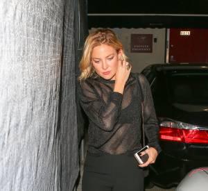 Kate Hudson à la sortie du restaurant Craig.