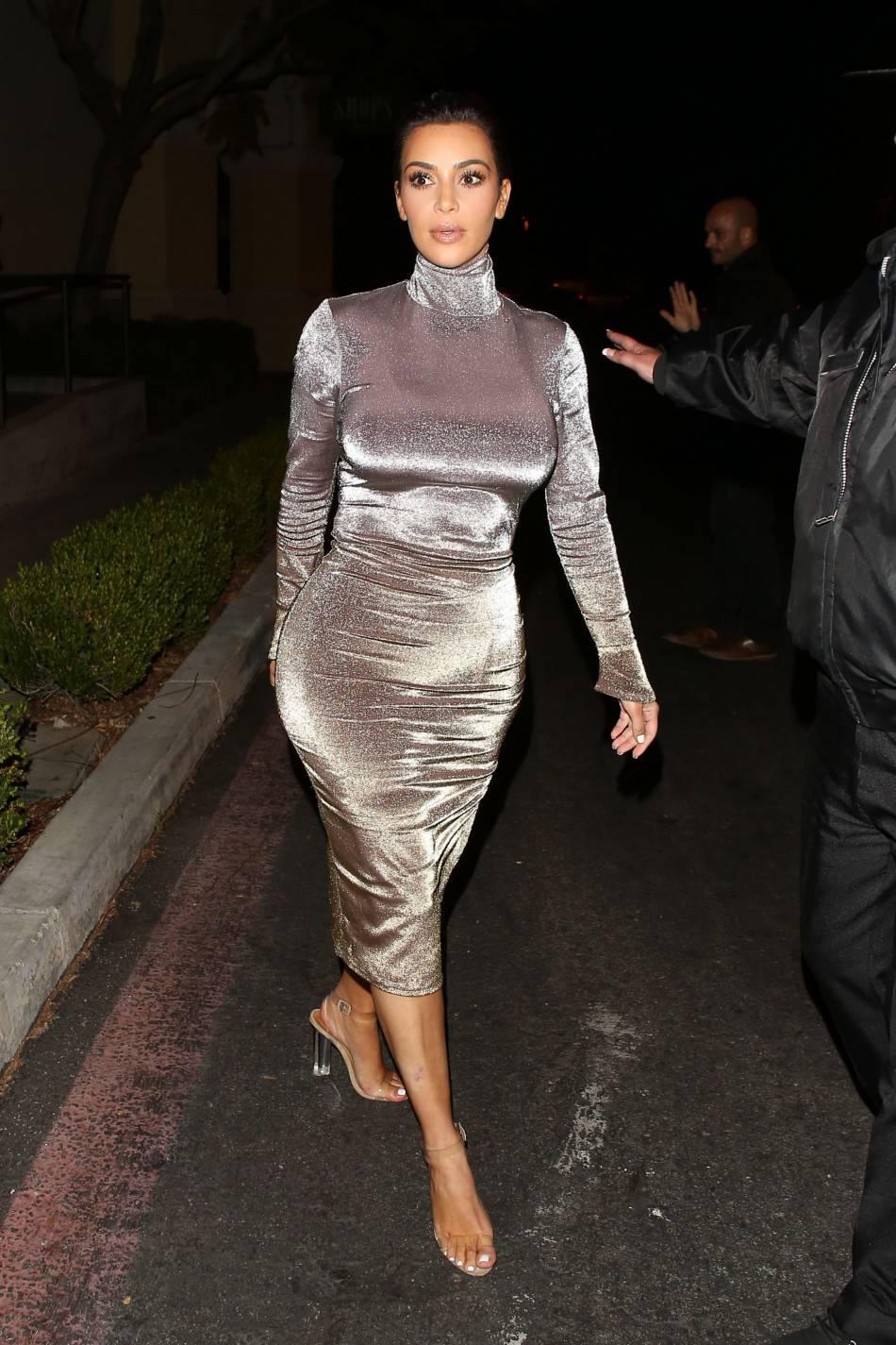 Kim Kardashian très amincie.