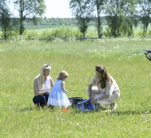 Madeleine de Suède en visite sur l'île de Gotland.