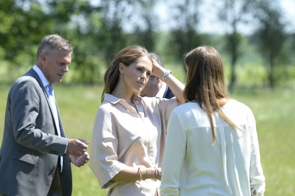 Madeleine de Suède en visite officielle sur l'île de Gotland.