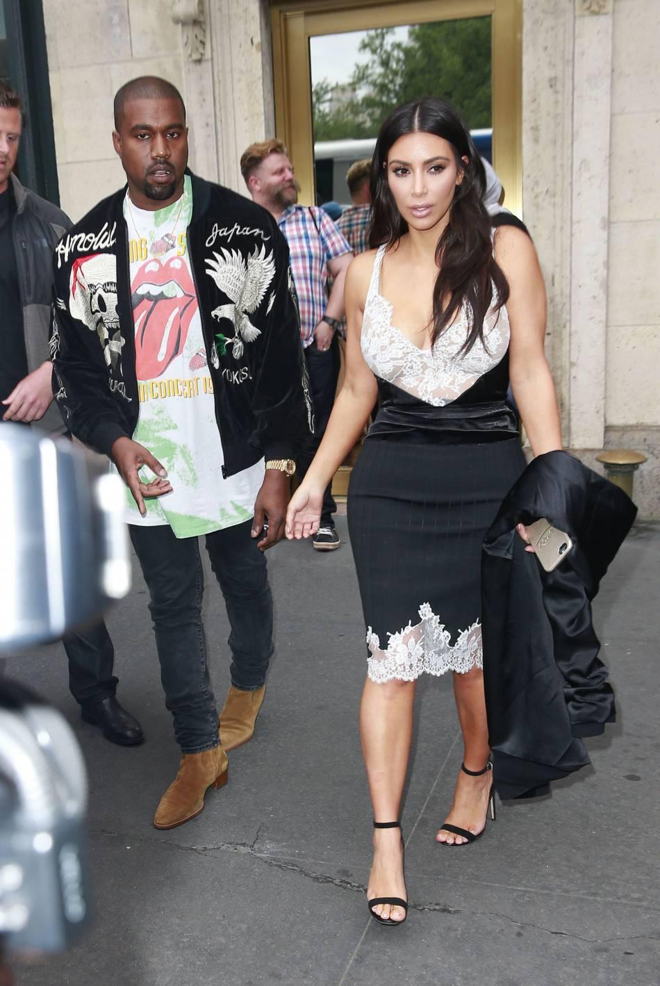 Kim Kardashian et Kany West, le couple stylé.