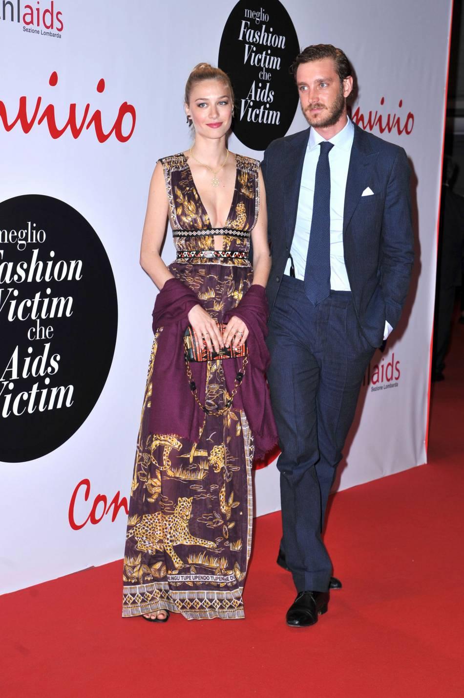 Beatrice Borromeo et son mari Pierre Casiraghi à la soirée Convivio à Milan le 7 juin 2016.